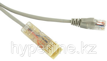 Hyperline PC-110-RJ45-2P-CX-2M-LSZH-GY Патч-корд 110 тип-RJ45, 2 пары, Ethernet, LSZH, 2 м, серый