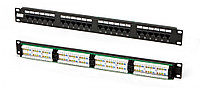 "Hyperline PP2-19-24-8P8C-C5e-110D Патч-панель 19"", 1U, 24 портов RJ-45, категория 5e, Dual IDC"