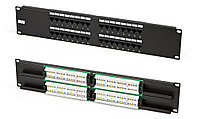 "Hyperline PP2-19-32-8P8C-C5e-110D Патч-панель 19"", 2U, 32 порта RJ-45, категория 5e, Dual IDC"