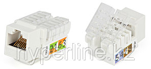 Hyperline KJ2-8P8C-C5e-TLS-WH Вставка Keystone Jack RJ-45(8P8C), категория 5e, Toolless, белая