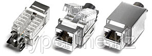 Hyperline KJ2-8P8C-C5e-TLS-SH-F-WH Вставка Keystone Jack RJ-45(8P8C), категория 5e, экранированная, Toolless, белая