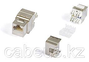 Hyperline KJ5-8P8C-C6-180-SH-F-WH (High-Bandwidth applications) Вставка Keystone Jack RJ-45(8P8C), категория 6, экранированная, тип 180 градусов,