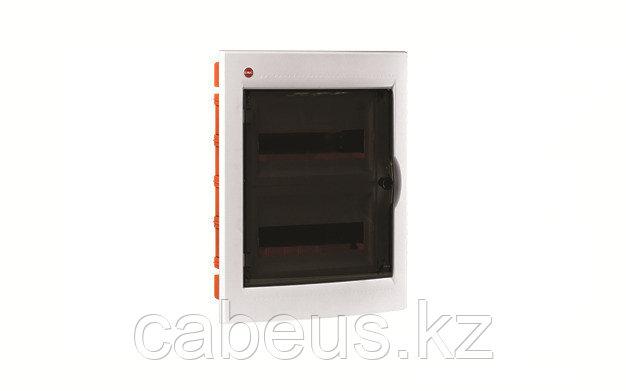 DKC / ДКС 81924 Щиток встраиваемый 2 ряда, 24(2x12) модуля, с прозрачной дверцей и замком, с клеммным блоком 2х87508, IP41, цвет белый RAL 9016