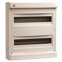 DKC / ДКС 83636 Щиток настенный 2 ряда, 36(2X18) модулей, без дверцы, без клеммных колодок, IP40, цвет серый RAL 7035