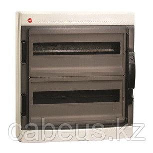 DKC / ДКС 85724 Щиток настенный 2 ряда, 24(2X12) модуля, с прозрачной дверцей, с усиленным клеммным блоком 2x87308, IP65, цвет серый RAL 7035