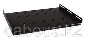 Hyperline TSHH-645-RAL9004 Полка глубиной 450 мм для шкафов с глубиной от 600 мм (до 150 кг), цвет черный (RAL 9004)
