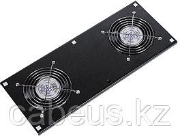 Hyperline TFAT-TC600-2-RAL9004 Модуль вентиляторный потолочный с 2-я вентиляторами для установки в напольные шкафы серии TTC глубиной 600, номинальная