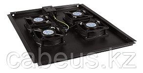 Hyperline TFAT-TC1000-6-RAL9004 Модуль вентиляторный потолочный с 6-ю вентиляторами для установки в напольные шкафы серии TTC глубиной 1000,