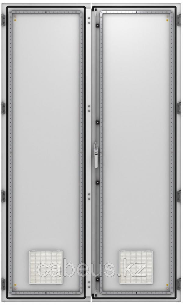 ZPAS WZ-6282-87-03-011 Дверь двустворчатая с вентиляционными отверстиями (левая) 2000 x 1200 мм, серая (RAL 7035)