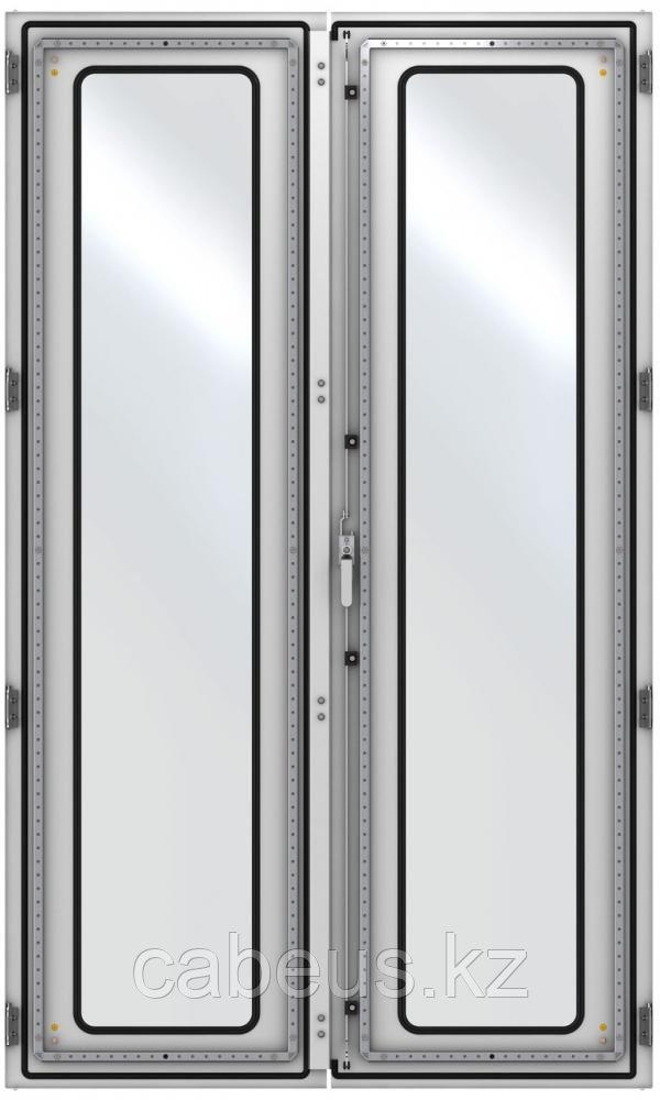 ZPAS WZ-6282-83-04-011 Дверь стеклянная, двустворчатая (правая) 2000 x 1000 мм, серая (RAL 7035)