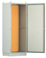 Hyperline TEFL-2065 Шкаф электрич.напольный, 2000х600х500мм (ВхШхГ), стальн.каркас, одностворч.перед.дверь, монтаж.панель (RAL2000), трехточ.замок,