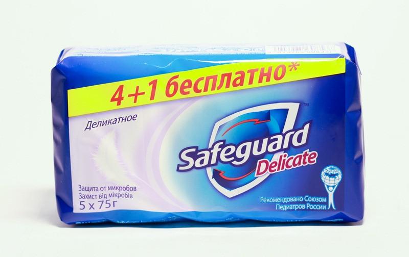 Мыло твердое Safeguard Delicate деликатное375г