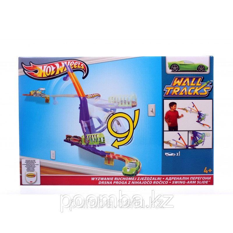 "Машинка Mattel Hot Wheels ""Супер Гонки: Swing-arm Slide"""