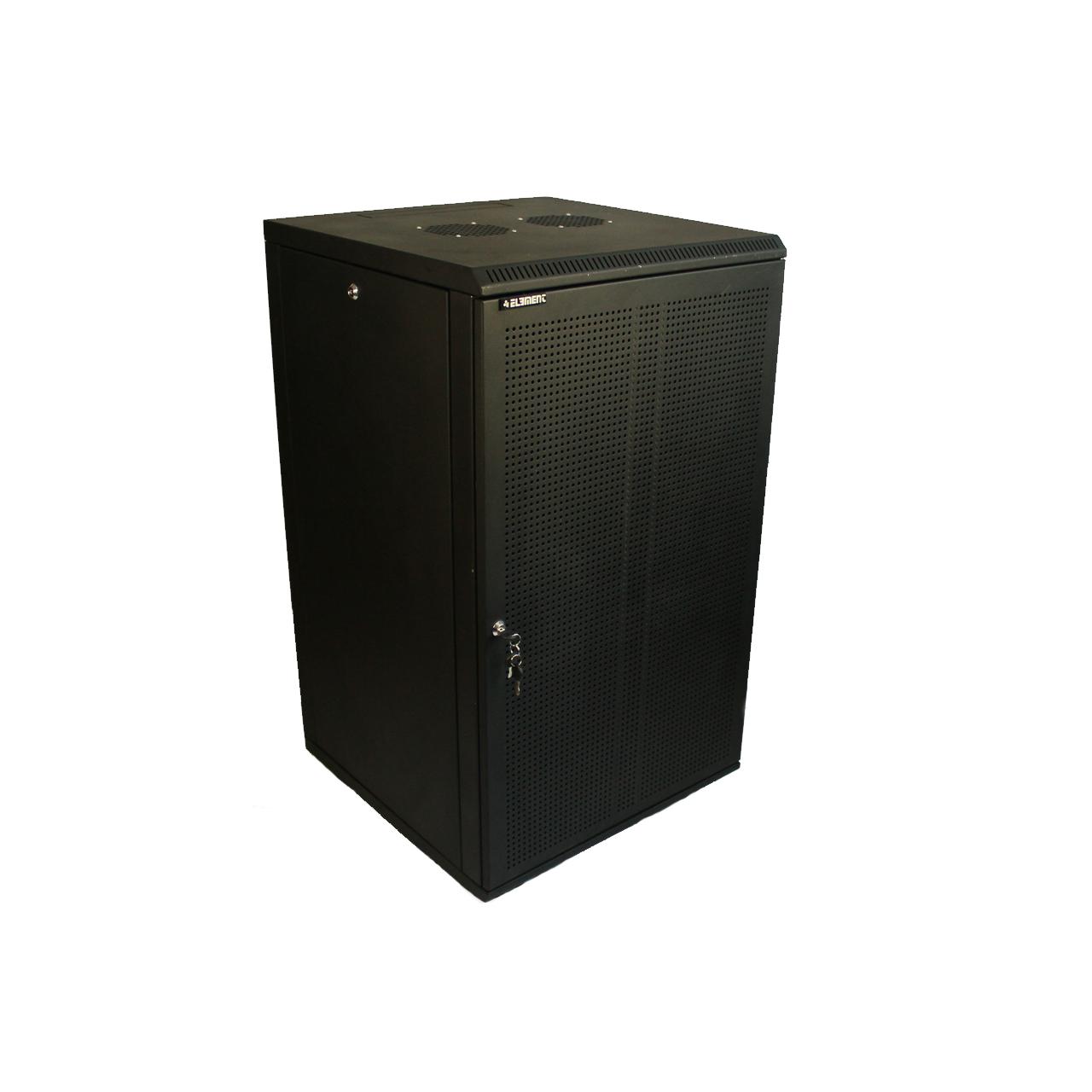 ELEMENT Шкаф напольный 18U, 600*600*901 передняя дверь перфорированная