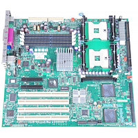 Материнская Плата Hewlett-Packard iE7520 Dual Socket 604 4DualDDR333 2UW320SCSI U100 2PCI-E8x 4PCI-X Video 2LAN1000 E-ATX 800Mhz For ML350G4