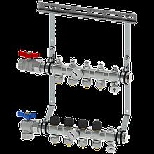 Коллектор 3 контура, с клапанами, без фитингов