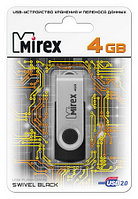 USB флэш-накопитель Mirex SWIVEL RUBBER 4GB (ecopack)