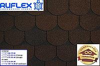 Гибкая черепица (кровля) РУФЛЕКС, СБС модифицированная, Гарантия 35 лет, Орнами Темный Шоколад