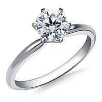 Сертификат GIA 0,30Сt D/IF EX Золотое 14K кольцо с бриллиантом , фото 1