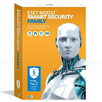 ESET NOD32 Smart Security Family на 5ПК/1год