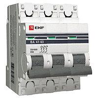 ВА 47-63, 3P 10А (D) EKF PROxima