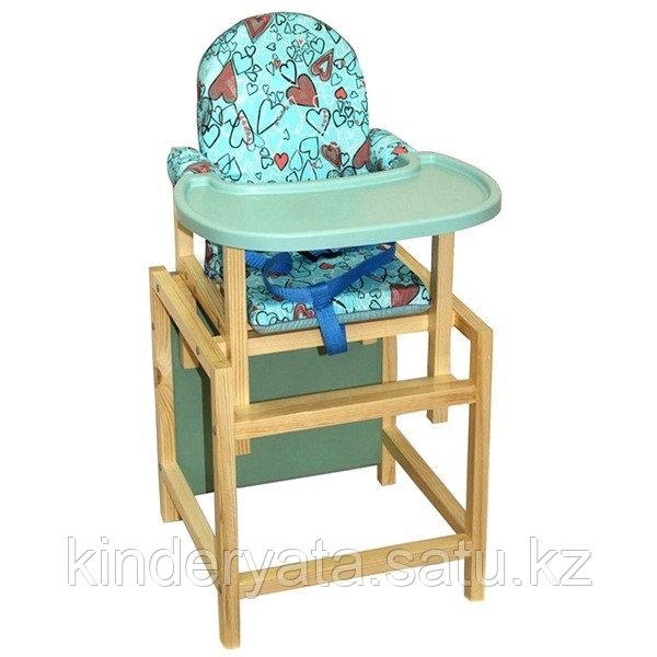 ВИЛТ Стул-стол для кормления СТД 07 пластиковая столешница Бирюзовый
