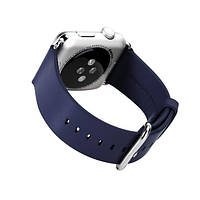 Ремешок apple watch 38mm (rock) genuine leather, цвет темно- синий (dark blue)