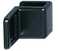 Ручка для стеклянных дверей, цинковое литье,28х20 мм, черная, матовая