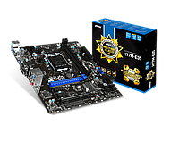 "Материнская плата ""MSI H97M-E35,m ATX 1150 iH 97 i3/ i5/ i7  1333-2400 MHz,DDR III 1333 Dual up to 32Gb"""
