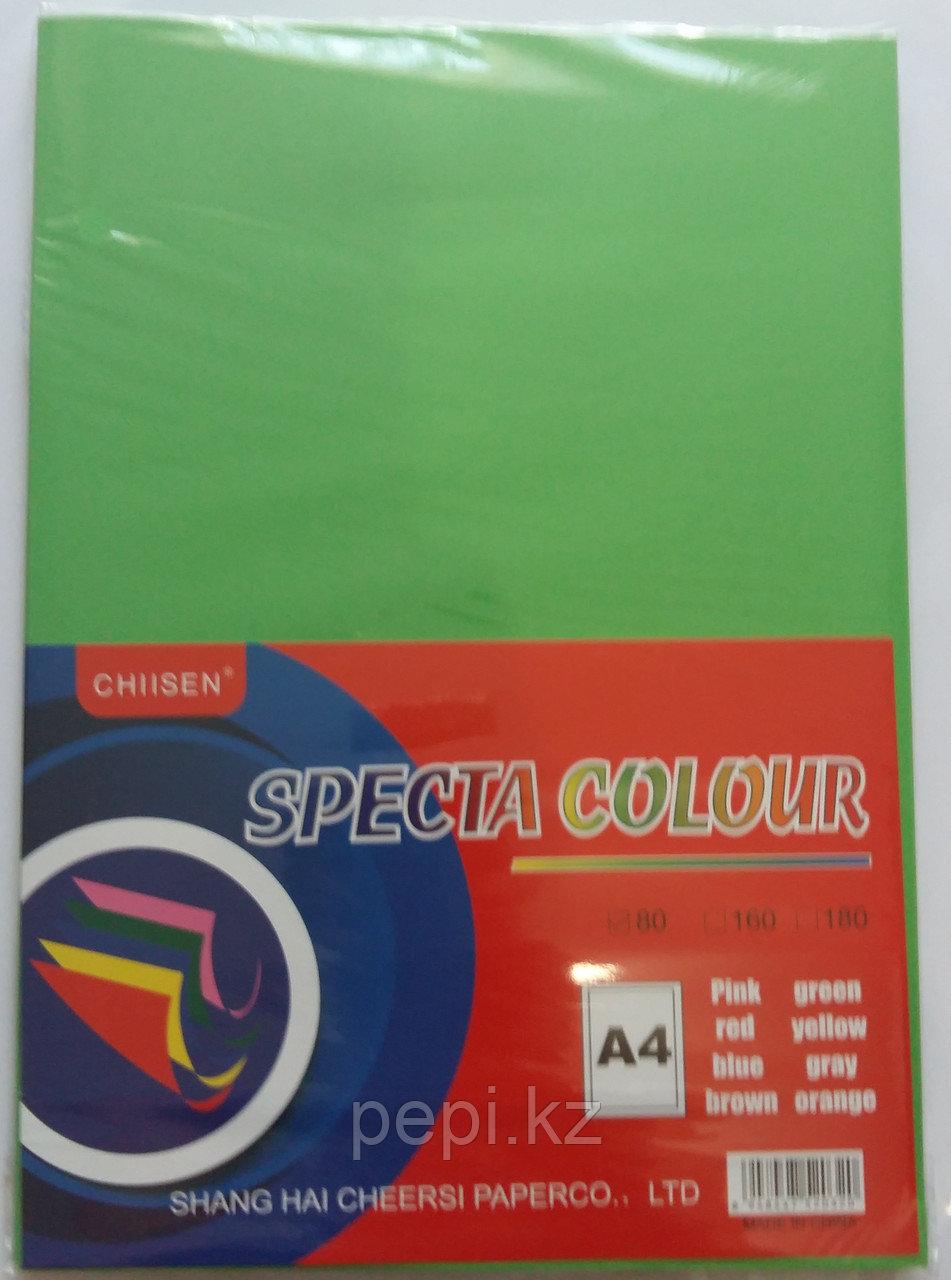 Бумага A4,80гр/100 л. зеленый