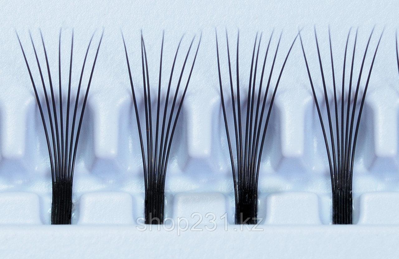 Пучковые ресницы (без узелковые).10мм