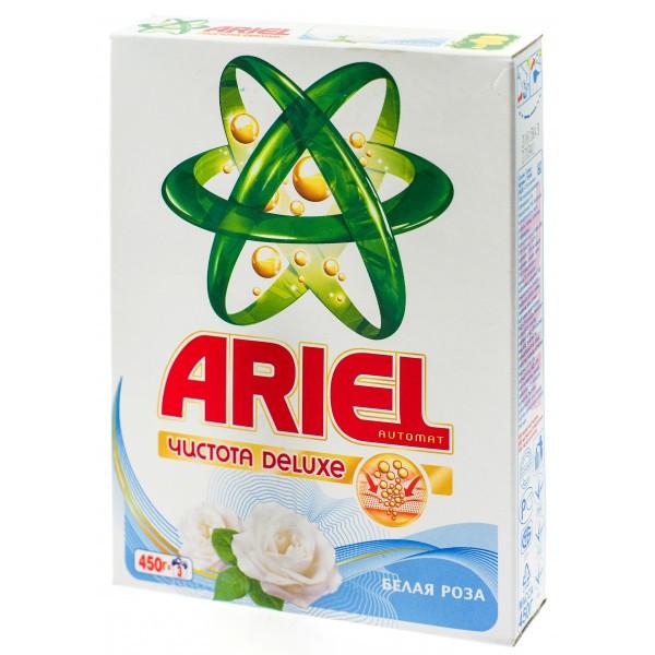 Ariel чистота Deluxe белая роза 450г