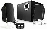 "Колонки ""Microlab  M-200 Platinum 2.1  with Subwoofer  50W RMS (15 Wx2 + 20W),Black  кор-4шт"""