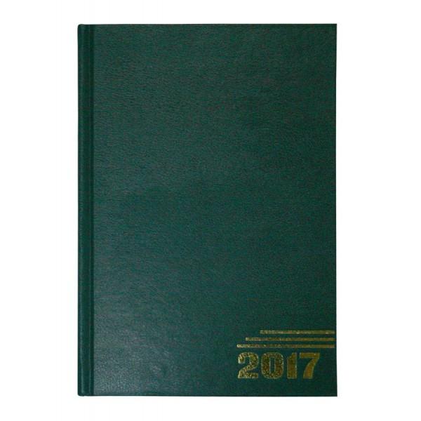 Ежедневник датированный, формат А5, 2017г, зеленый