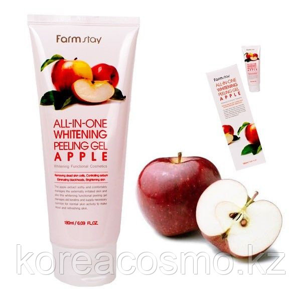ПИЛИНГ FARMSTAY SNAIL ALL-IN-ONE WHITENING PEELING GEL CREAM APPLE
