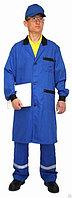 Рабочий халат Flex синий