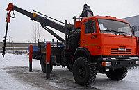 Крано-бурильная машина   на базе шасси а/м КАМАЗ