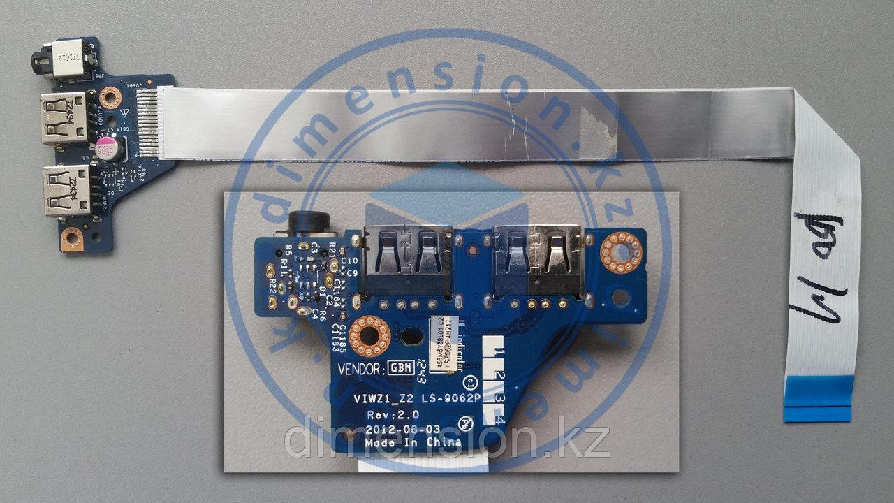 USB плата, порт, разъем VIWZ1-Z2 LS-9062P Rev 2.0 на LENOVO ideapad Z500