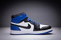 "Кожаные кроссовки Air Jordan 1 Retro ""Black/Blue/White"" (36-47), фото 4"