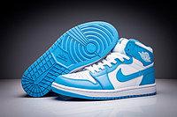 """Кожаные кроссовки Air Jordan 1 Retro """"Sky Blue White"""" (36-47), фото 1"""