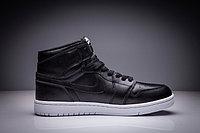 """Кожаные кроссовки Air Jordan 1 Retro """"Black/White"""" (36-47), фото 4"""