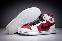 "Кожаные кроссовки Air Jordan 1 Retro ""Red/Black/White"" (36-47), фото 1"