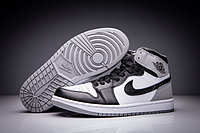 "Кожаные кроссовки Air Jordan 1 Retro ""Fragment Design"" Black White Grey (36-47), фото 1"