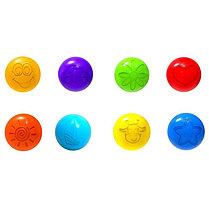 Шарики для сухого бассейна с рисунком, диаметр шара 7,5 см, набор 210 шт, фото 2