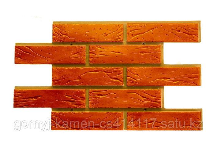 Фасадная облицовочная бетонная панель - Шамотный кирпич, фото 2