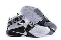 Кроссовки Nike LeBron Zoom Soldier 9 (IX) Black White, 42 размер