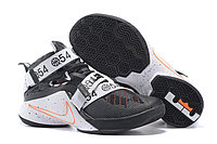 Кроссовки Nike LeBron Zoom Soldier 9 (IX) White Black Orange (40-46)