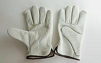 Перчатки рабочие кожаные (из говяжьей кожи), фото 2