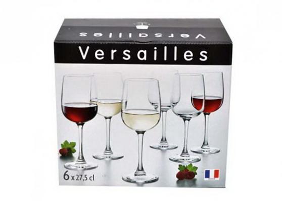 Набор фужеров для вина Luminarc Versailles 270 мл. (6 штук)