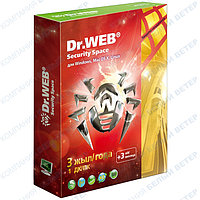 Антивирус Dr. Web Security Space  SILVER, 1 ПК / 2 года